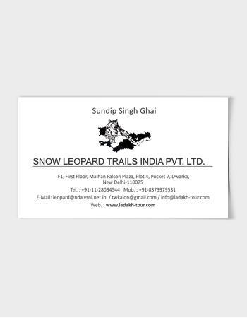 Snow Leopard Vcard