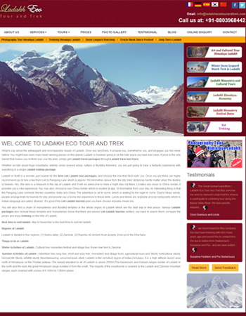 Ladakh Eco Tour and Trek